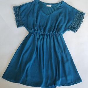 Altar'd State Teal V-Neck Dress S